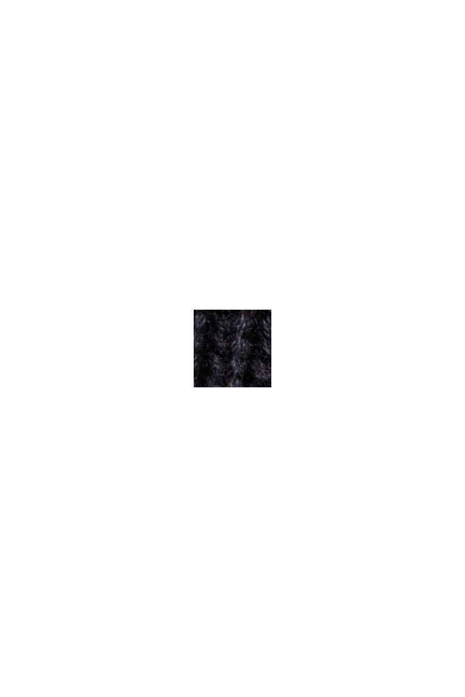 Mit Kaschmir: Rippstrick-Pullunder, BLACK, swatch