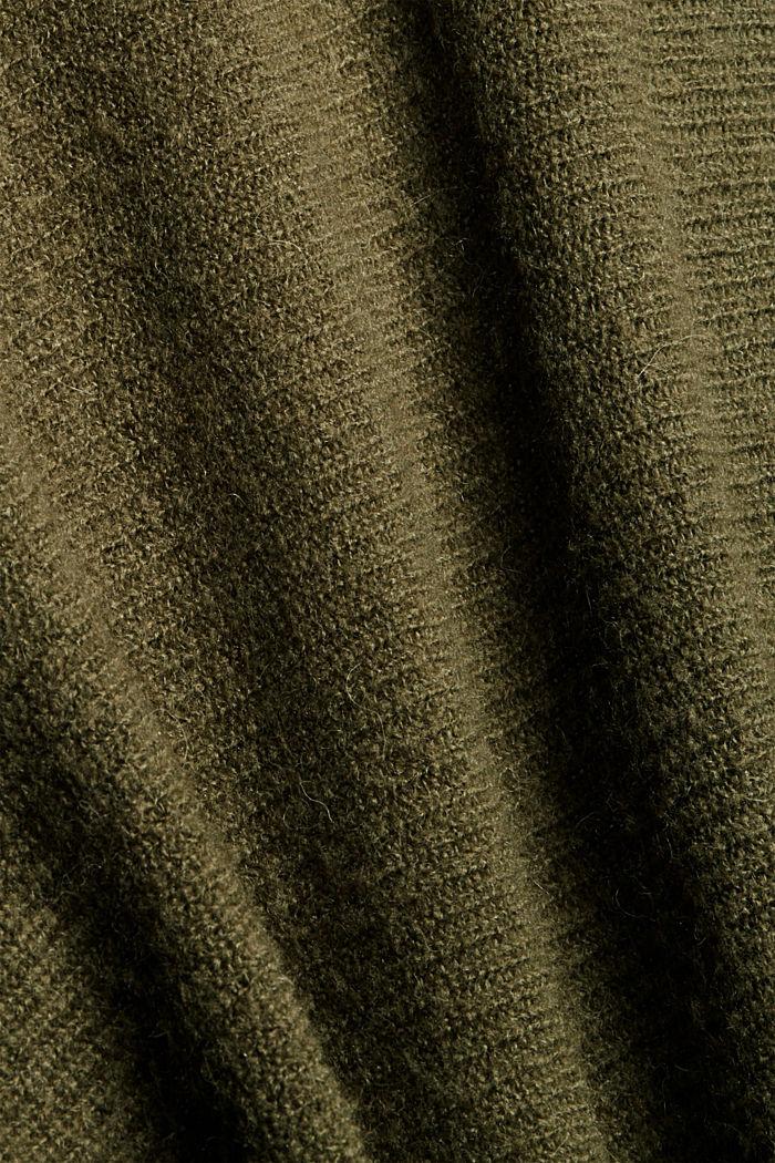 Con lana: cárdigan estilo capa, DARK KHAKI, detail image number 4