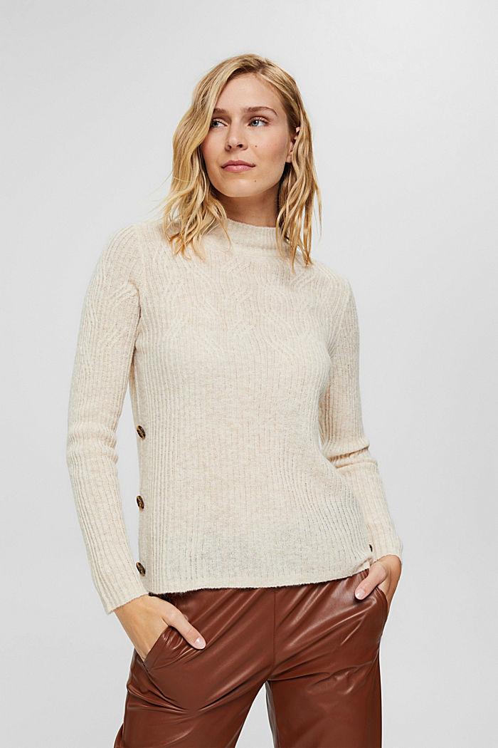À teneur en laine: le pull-over à motif torsadé, SAND, detail image number 0