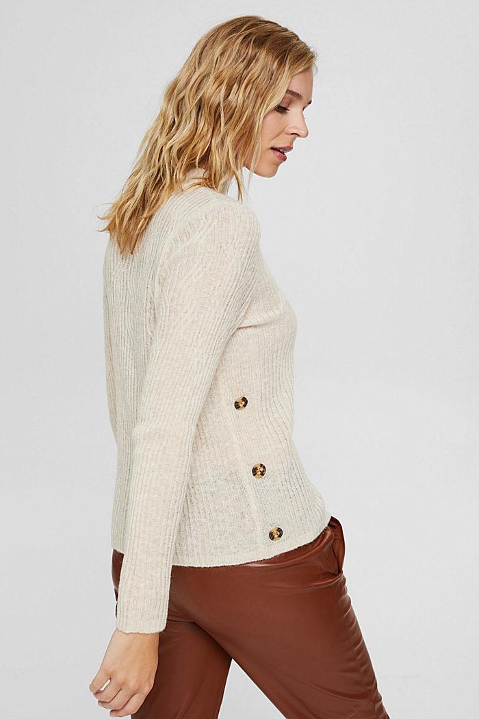 À teneur en laine: le pull-over à motif torsadé, SAND, detail image number 3