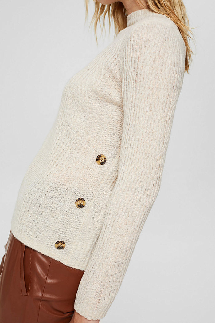 À teneur en laine: le pull-over à motif torsadé, SAND, detail image number 2