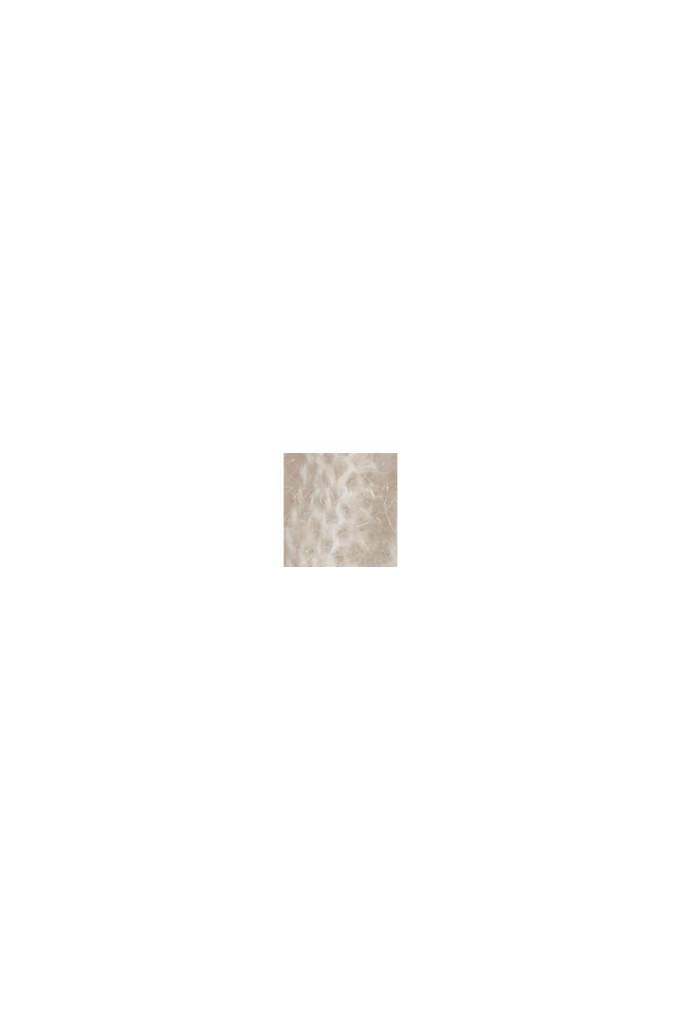 Mit Wolle: Pullover mit Zopfmuster, SAND, swatch