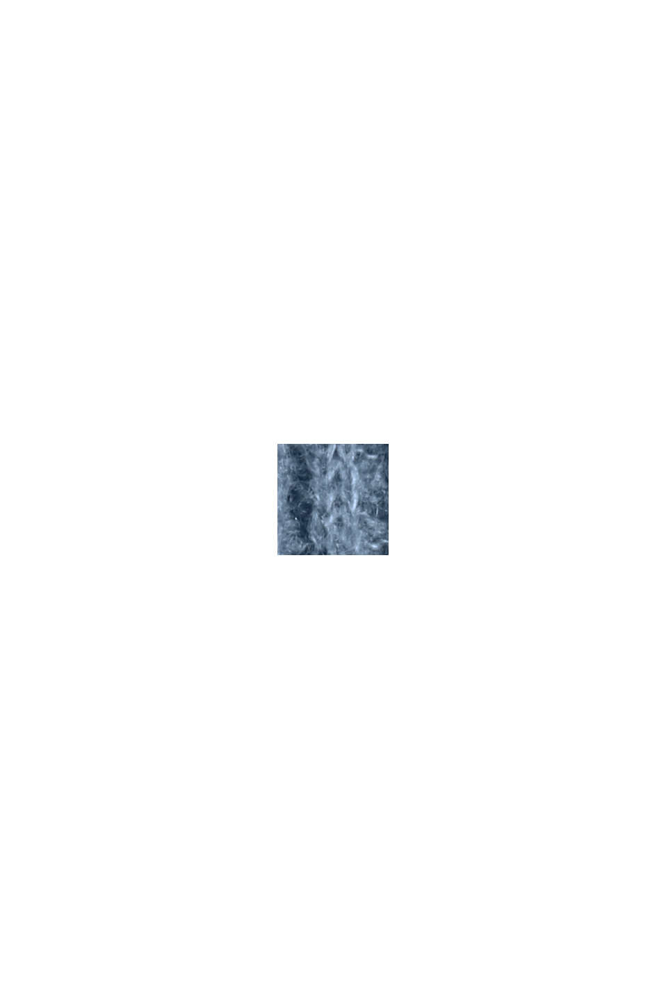 Mit Wolle: Pullover mit Zopfmuster, GREY BLUE, swatch