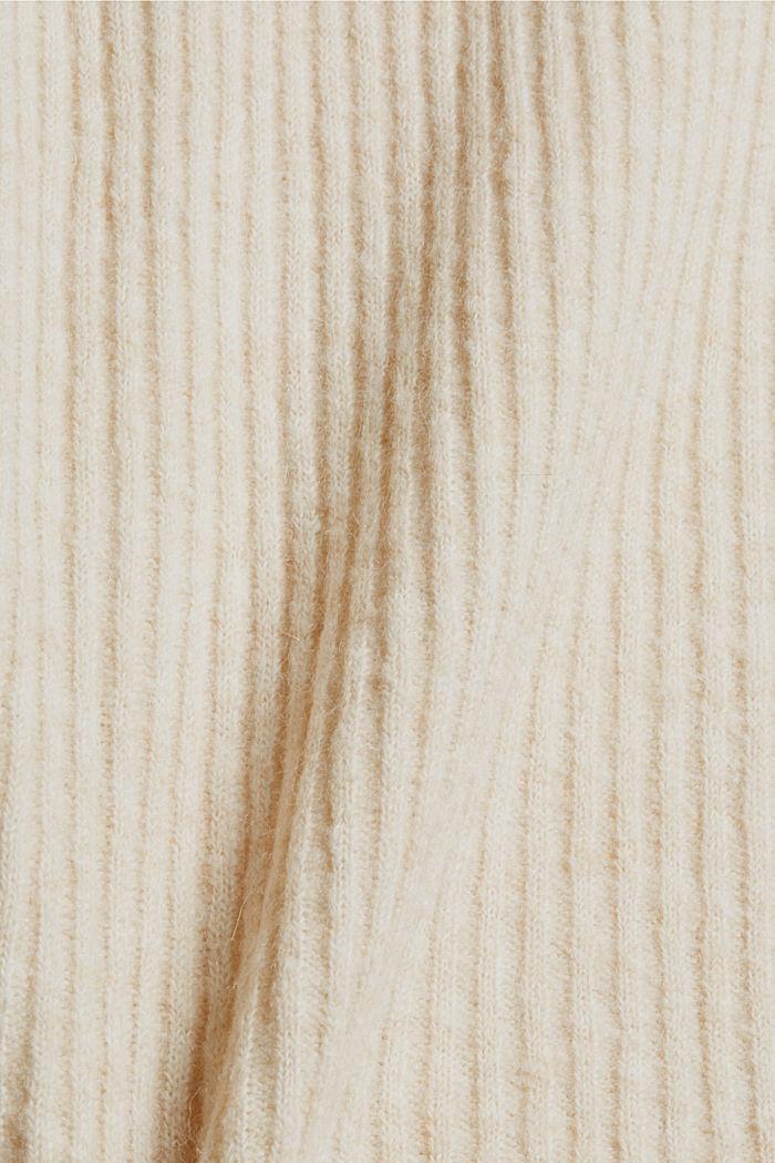 Met wol/alpacawol: spencer met ingebreid patroon, SAND, detail image number 4