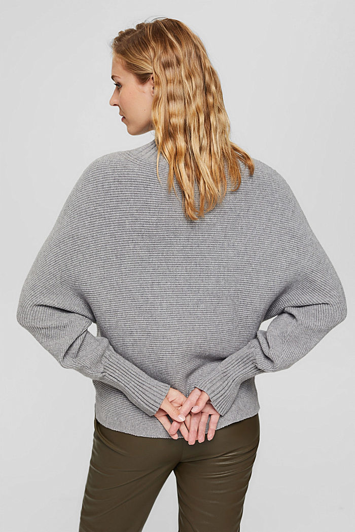 Rib knit top with LENZING™ ECOVERO™, MEDIUM GREY, detail image number 2