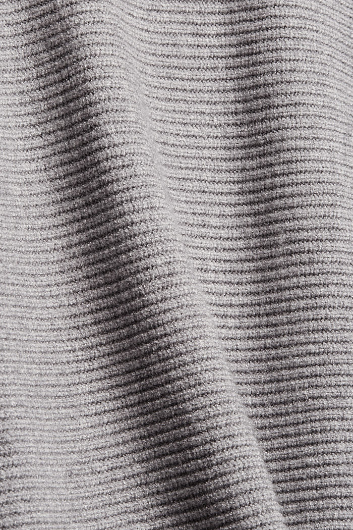 Rib knit top with LENZING™ ECOVERO™, MEDIUM GREY, detail image number 3