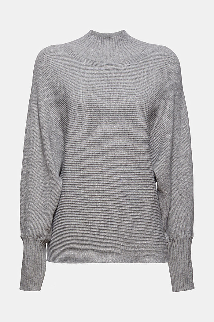 Rib knit top with LENZING™ ECOVERO™, MEDIUM GREY, detail image number 7
