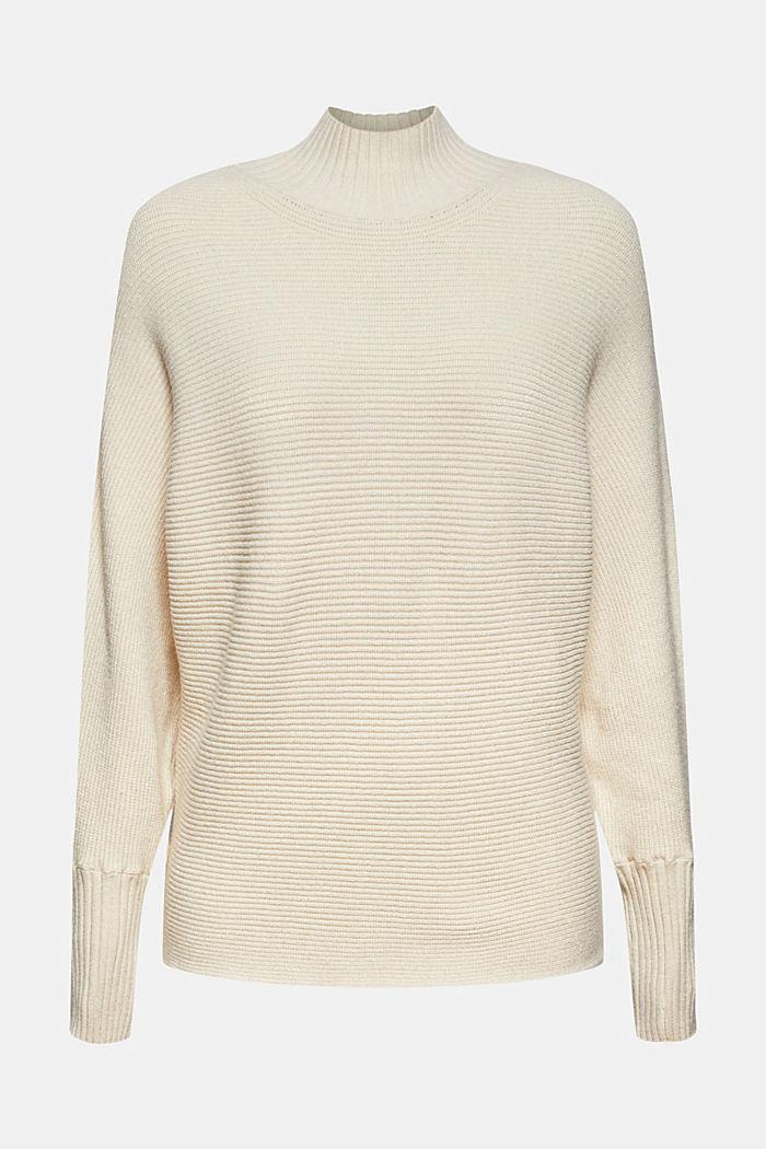 Ribbstickad tröja med LENZING™ ECOVERO™