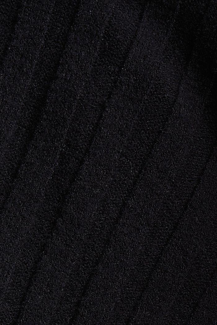 Rollkragenpullover mit LENZING™ ECOVERO™, BLACK, detail image number 4