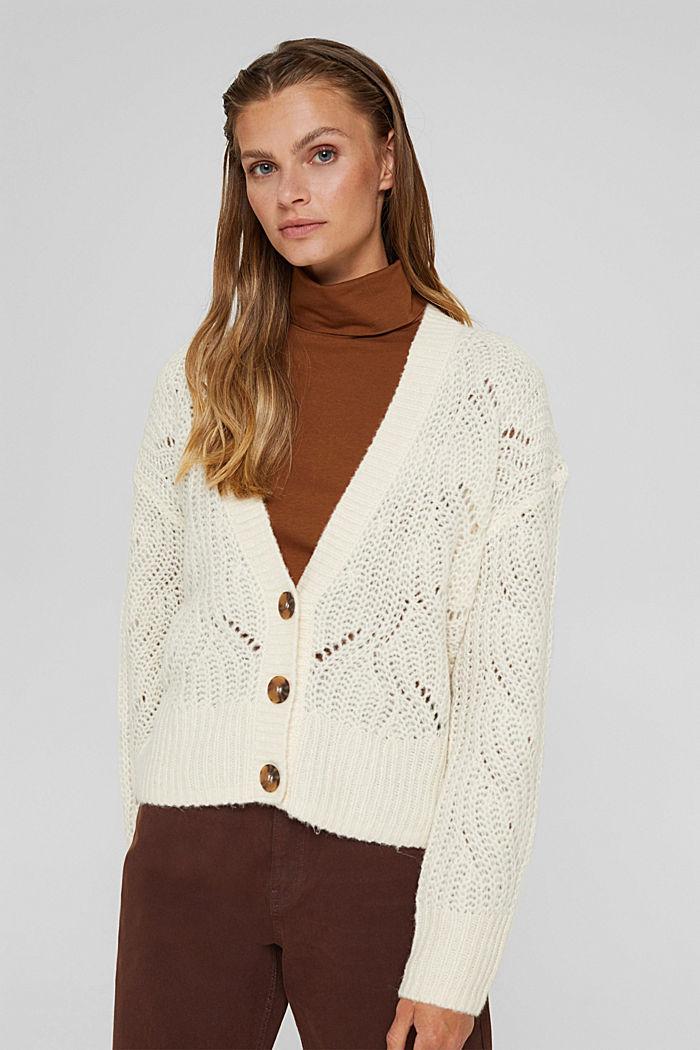 Met wol/alpaca: vest met opengewerkte structuur, ICE, detail image number 0