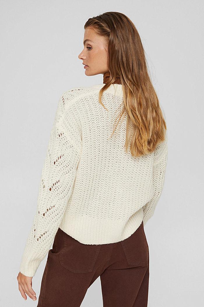 Met wol/alpaca: vest met opengewerkte structuur, ICE, detail image number 3