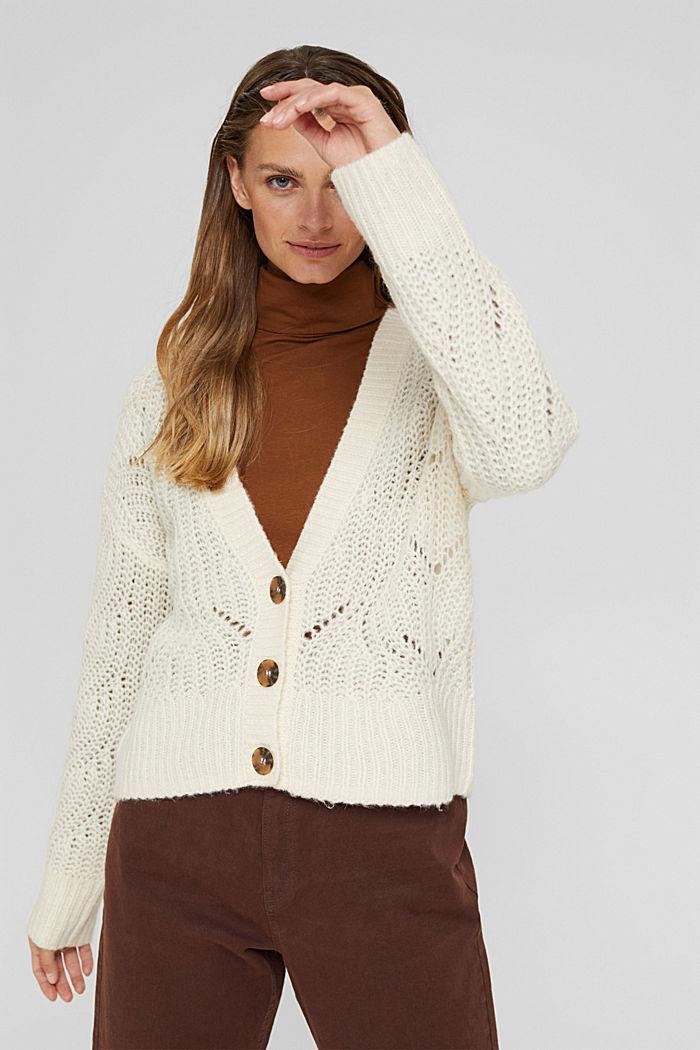 Met wol/alpaca: vest met opengewerkte structuur, ICE, detail image number 5