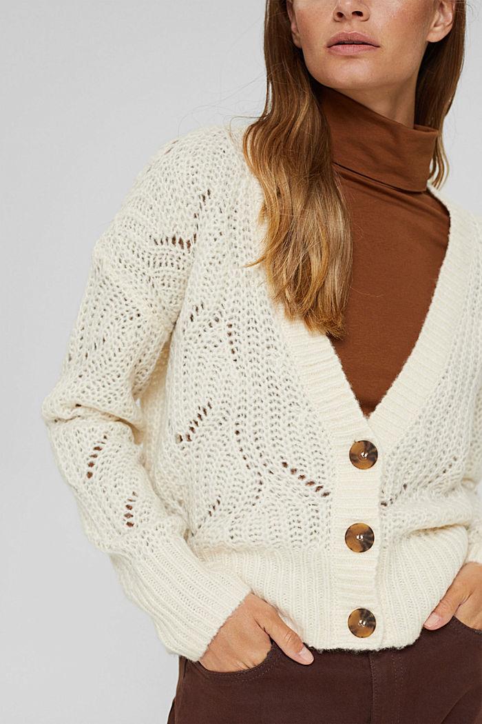 Met wol/alpaca: vest met opengewerkte structuur, ICE, detail image number 2