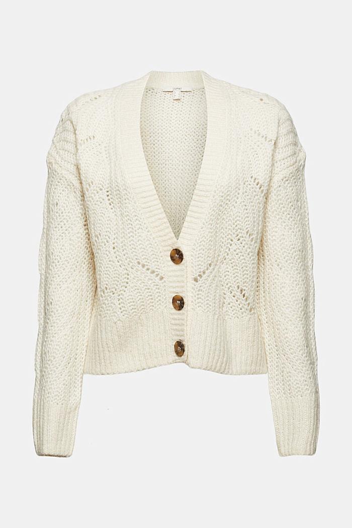 Met wol/alpaca: vest met opengewerkte structuur, ICE, detail image number 7
