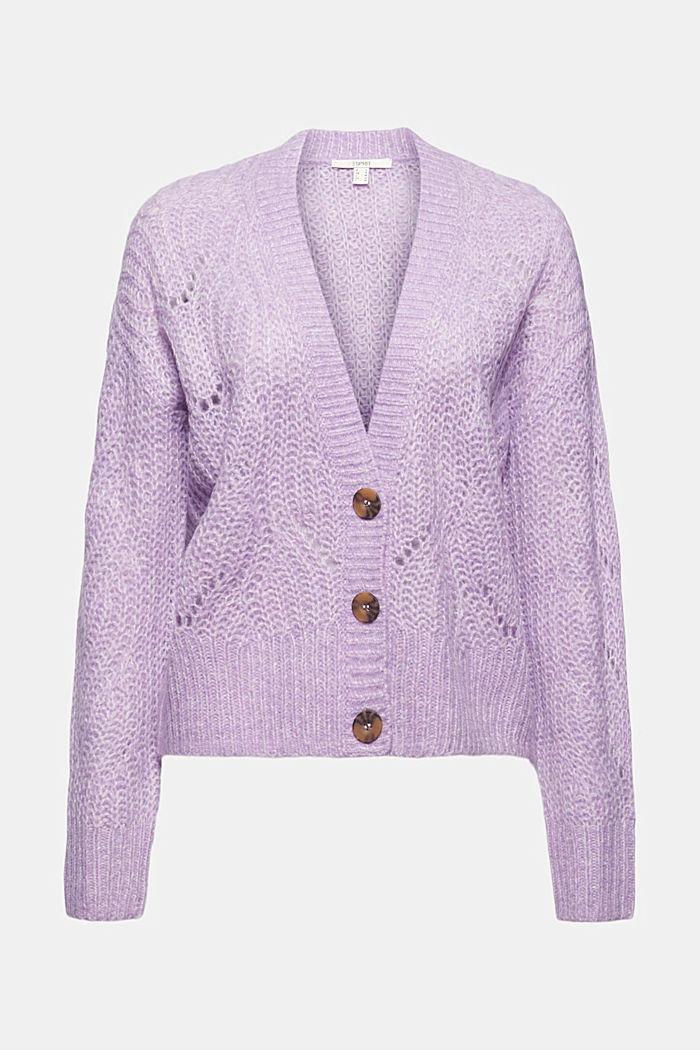 À teneur en laine/alpaga: le cardigan de texture en pointelle