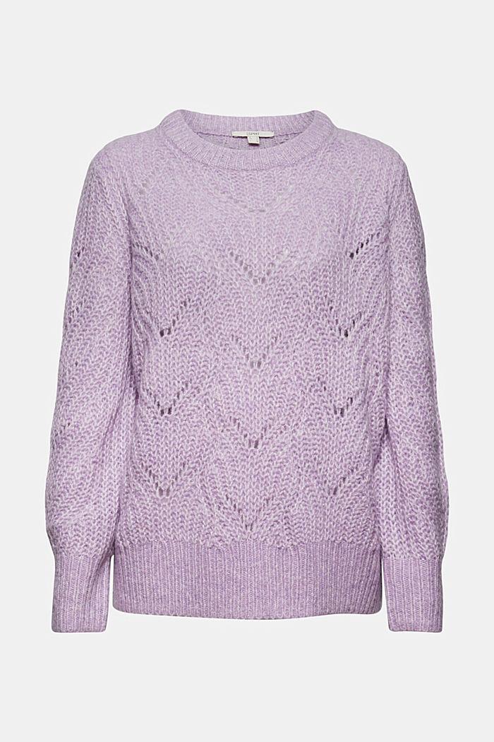 Mit Wolle und Alpaka: Pointelle-Pullover