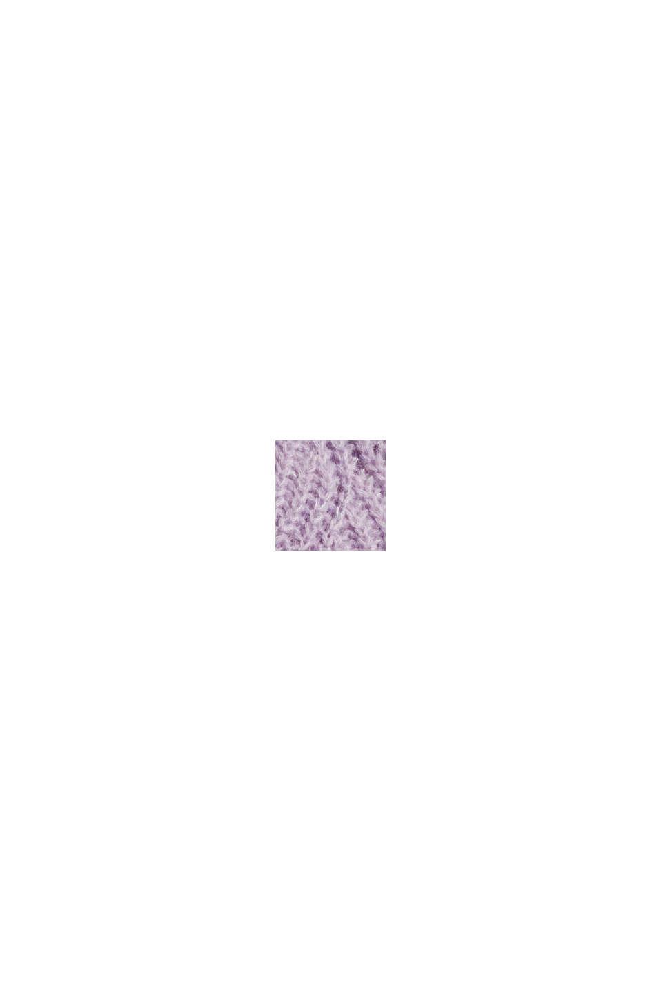 Mit Wolle und Alpaka: Pointelle-Pullover, LILAC, swatch