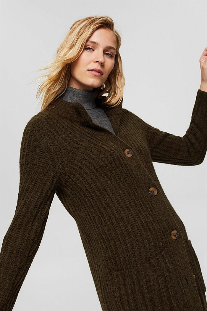 Mit Wolle/Alpaka: Long Cardigan