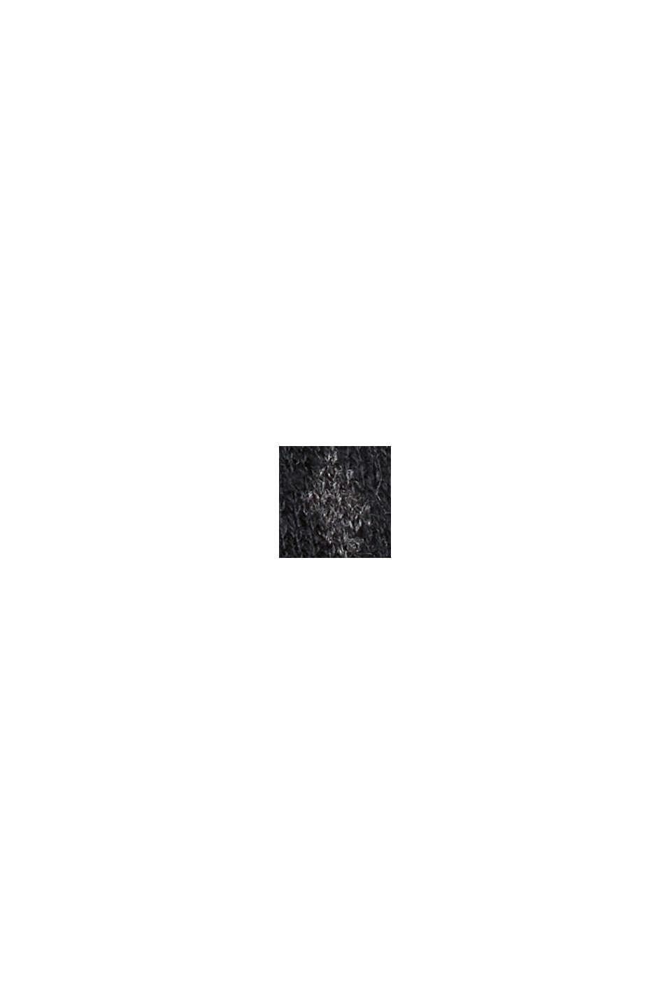 Sweter z norweskim wzorem z mieszanki materiałów z bawełną ekologiczną, BLACK, swatch