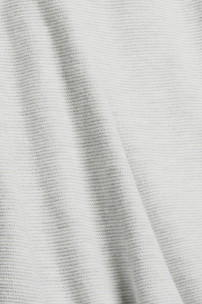 Norweger-Pullover aus Bio-Baumwoll-Mix, LIGHT GREY, detail image number 4