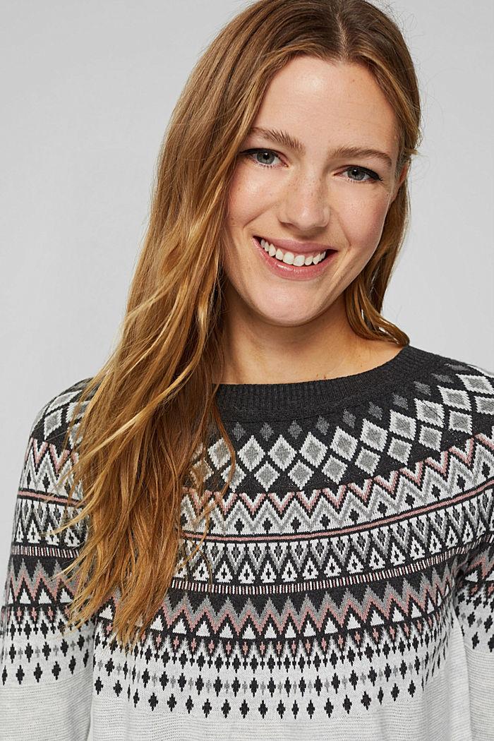 Norweger-Pullover aus Bio-Baumwoll-Mix