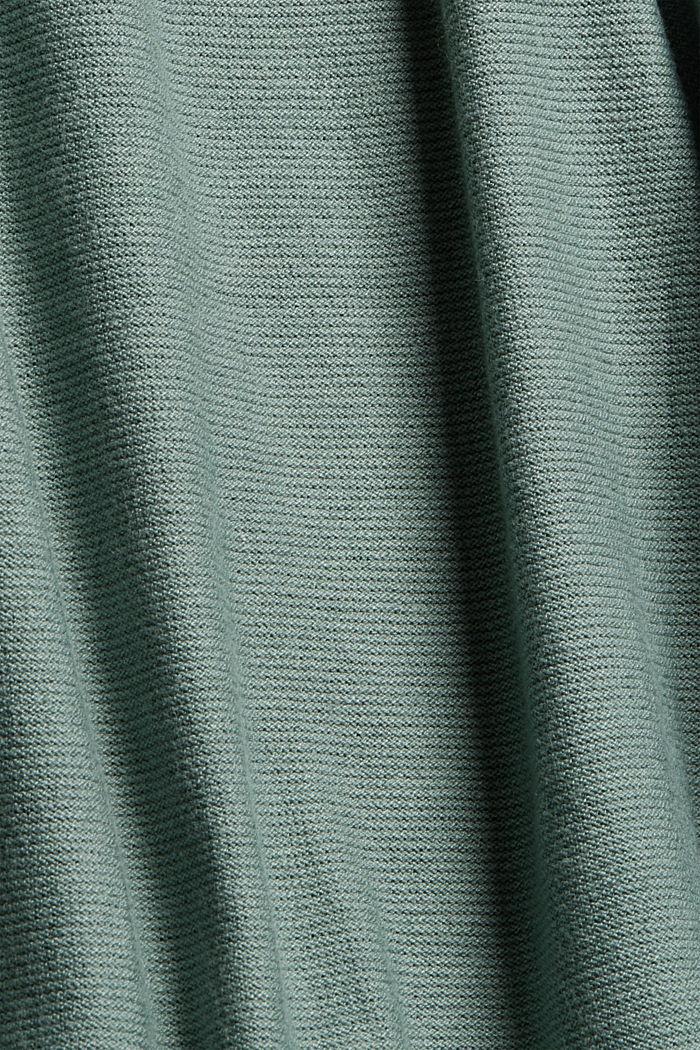 Norweger-Pullover aus Bio-Baumwoll-Mix, DUSTY GREEN, detail image number 4
