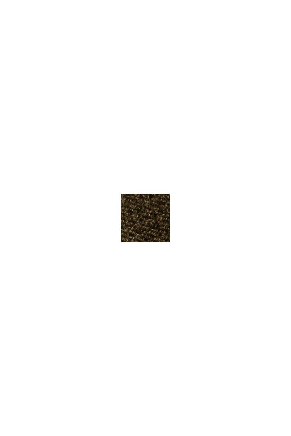 Norweger-Pullover aus Bio-Baumwoll-Mix, DARK KHAKI, swatch