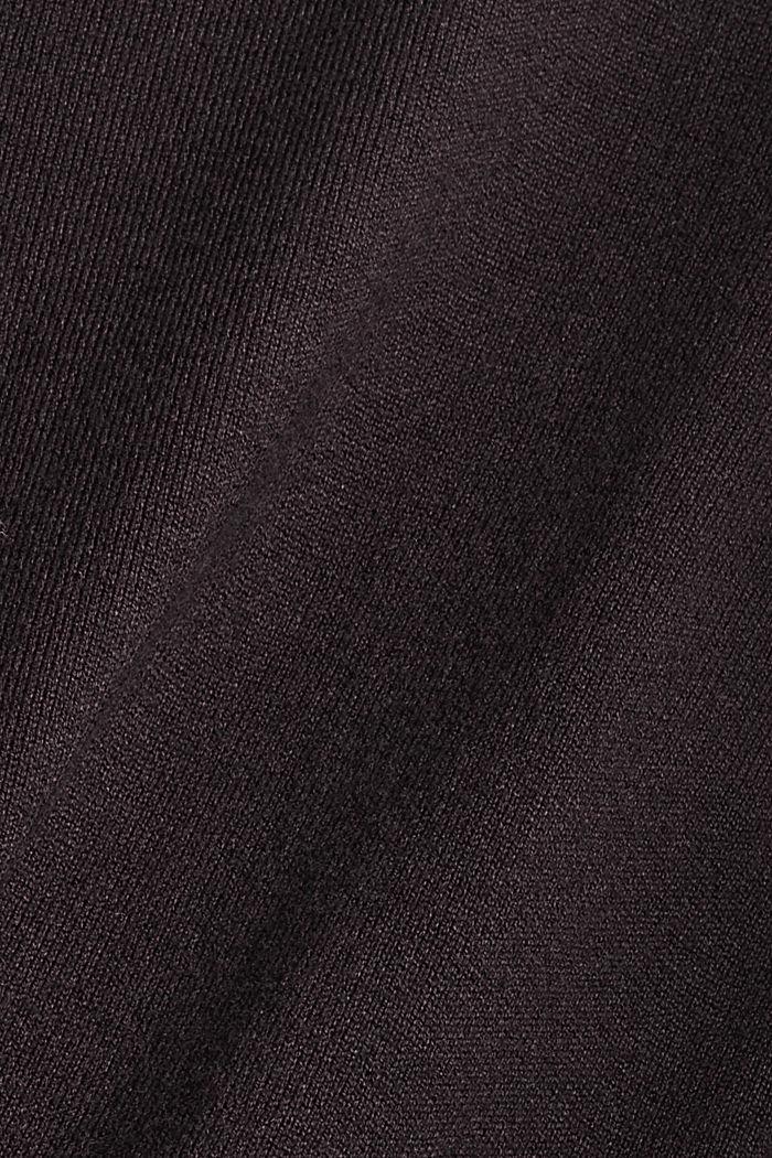 Rollkragenpullover aus Feinstrick, BLACK, detail image number 4