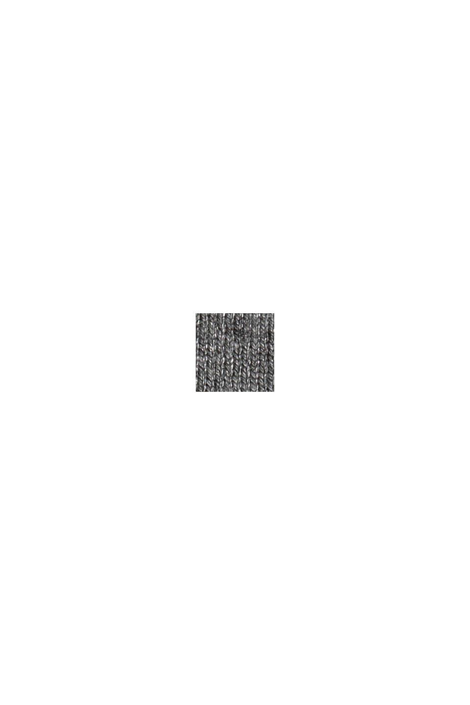 Rollkragenpullover aus Feinstrick, GUNMETAL, swatch