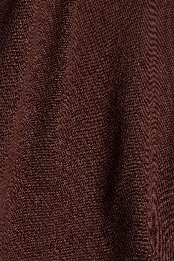 Fijngebreide coltrui, RUST BROWN, detail image number 4
