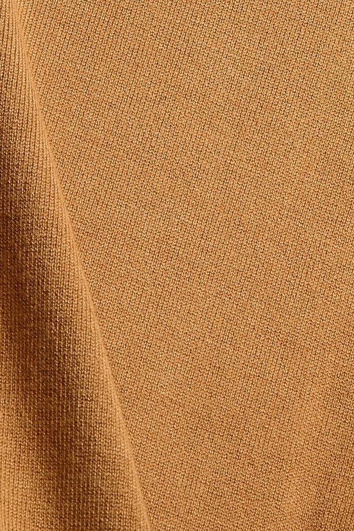 Fijngebreide coltrui, CAMEL, detail image number 4
