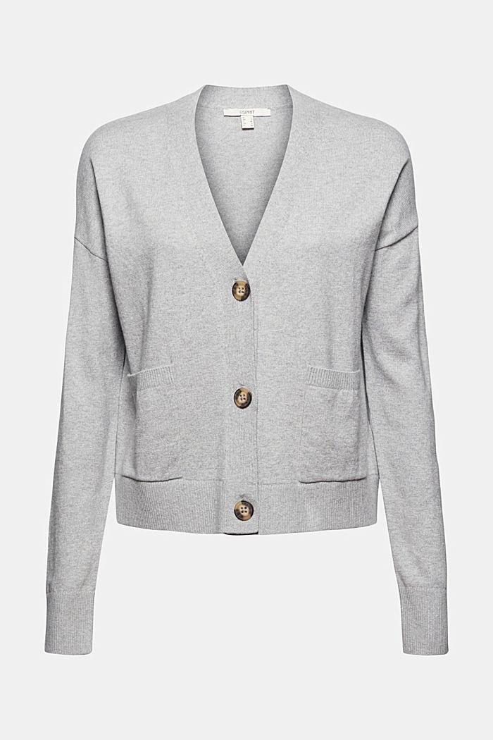 Met kasjmier: vest met V-hals, LIGHT GREY, detail image number 5
