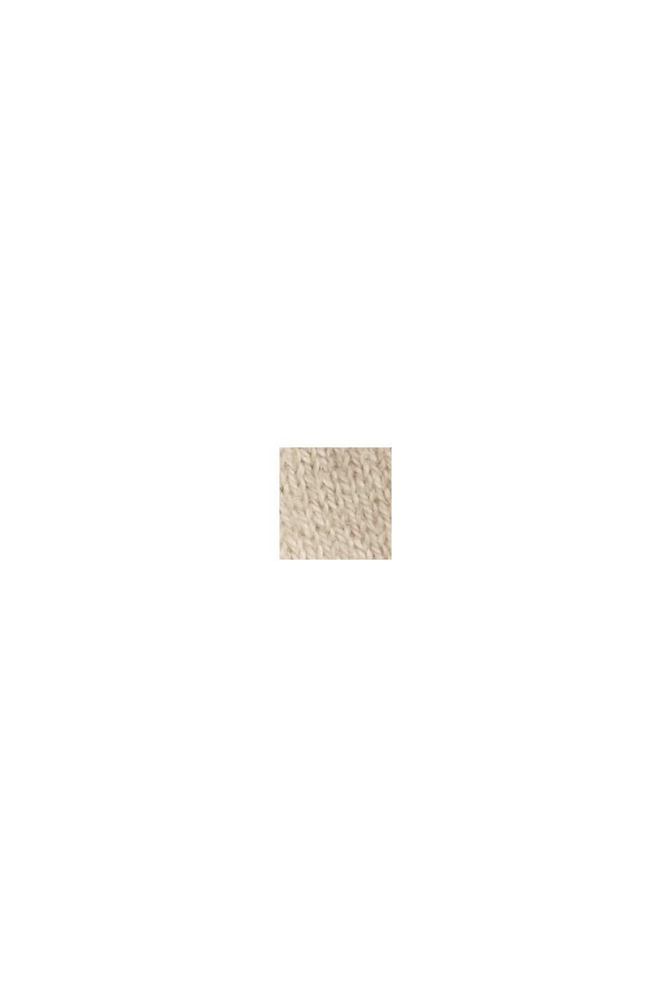 Con cachemir: cárdigan con cuello en pico, SAND, swatch