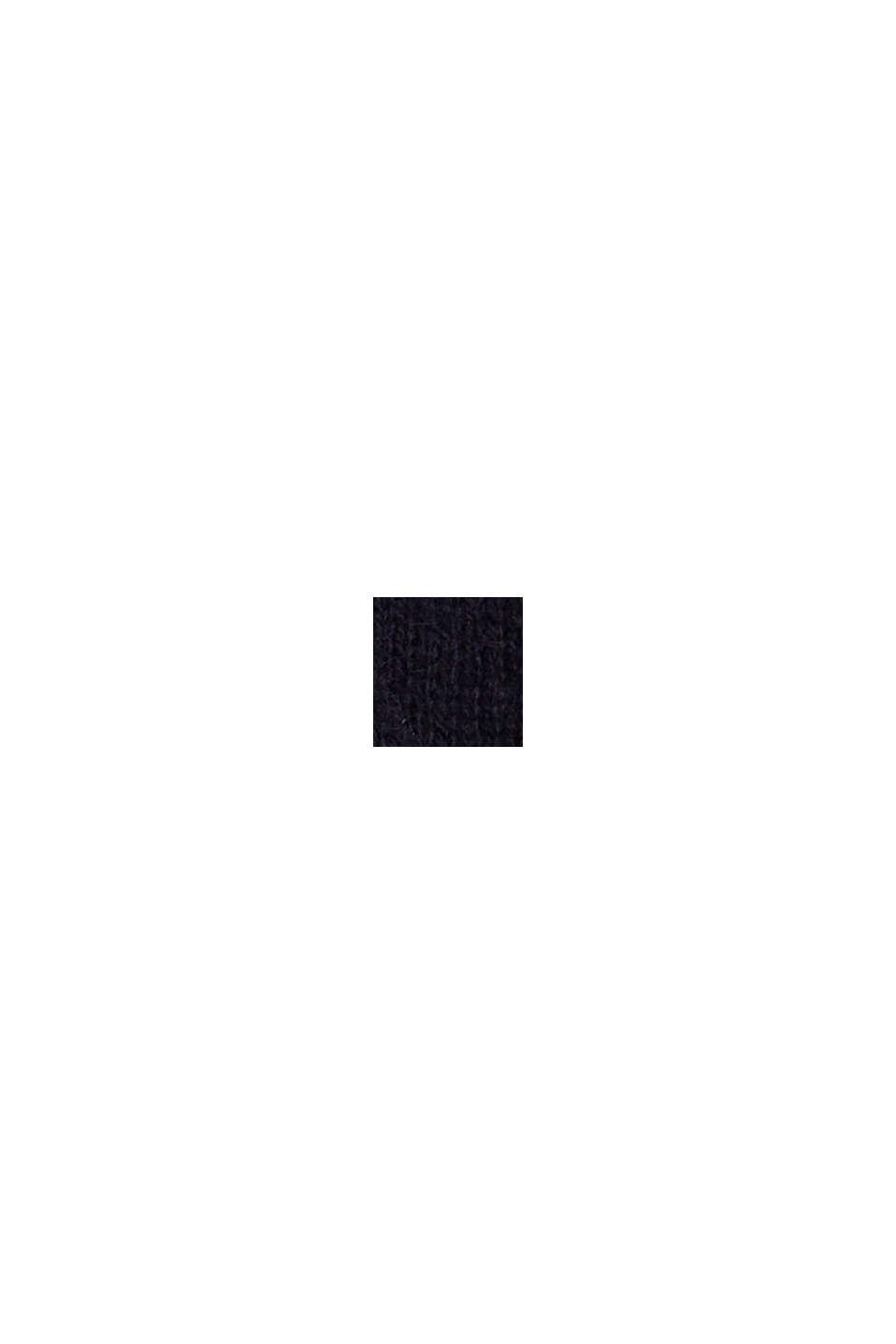 Con cachemir: cárdigan con cuello en pico, NAVY, swatch