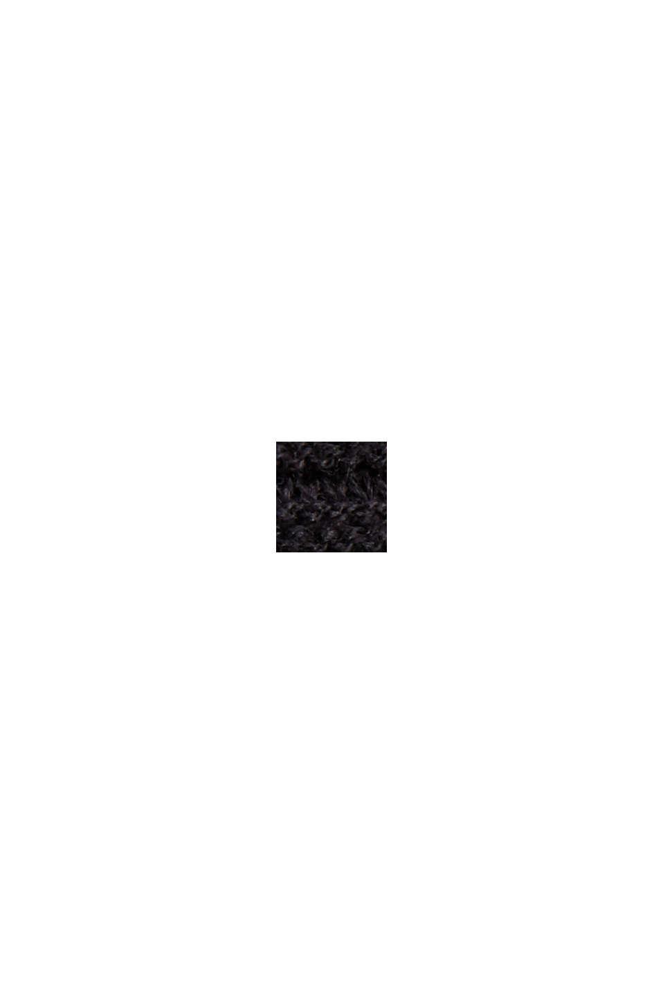 Mit Kaschmir: langer Pullover mit Schlitzen, BLACK, swatch