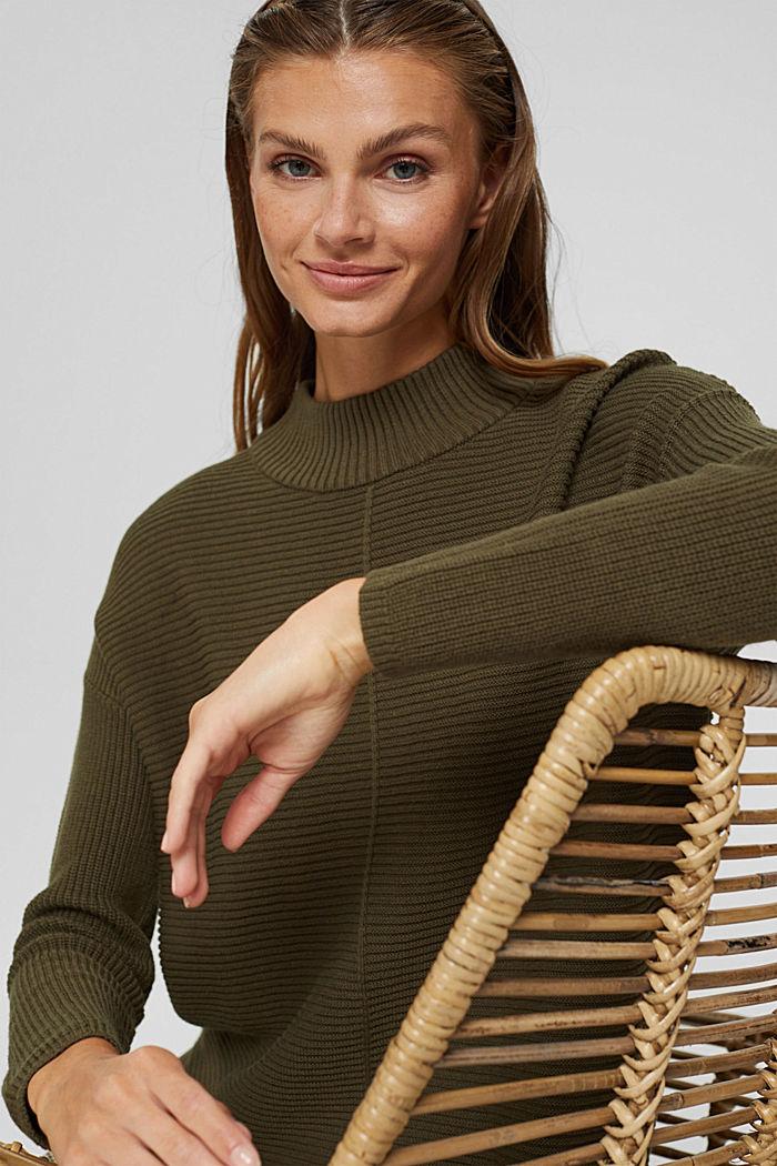 Mit Kaschmir: langer Pullover mit Schlitzen