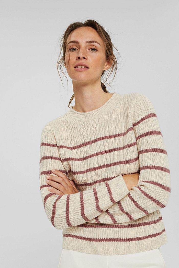 Mit Wolle/Alpaka: Streifenpullover