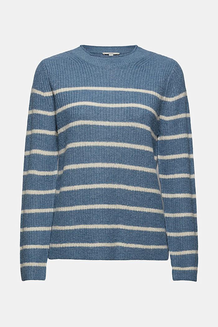 À teneur en laine/alpaga: le pull-over à rayures