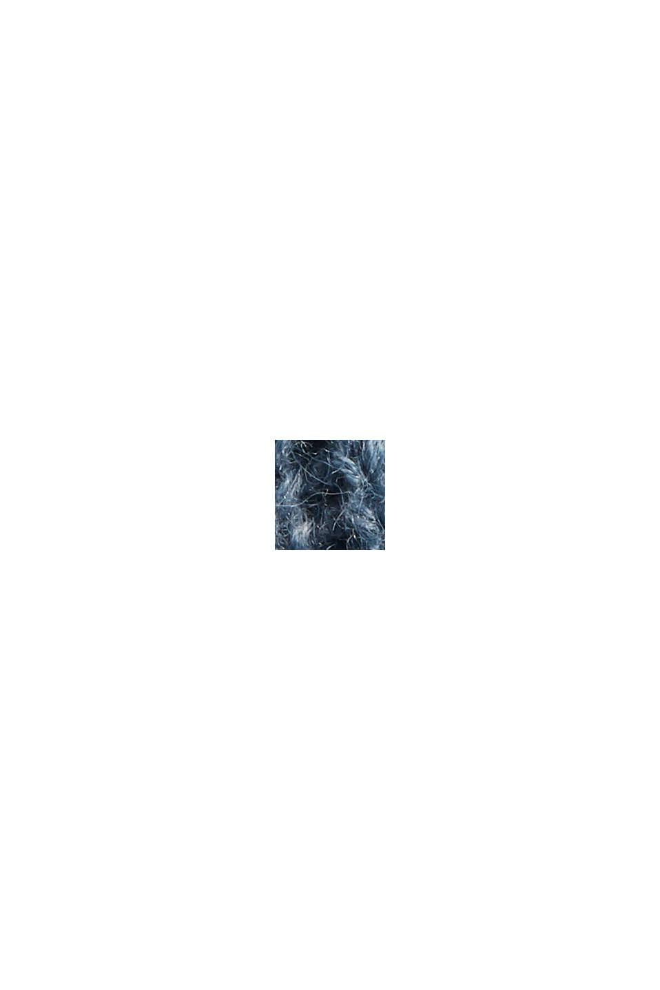 À teneur en laine/alpaga: le pull-over à rayures, GREY BLUE, swatch