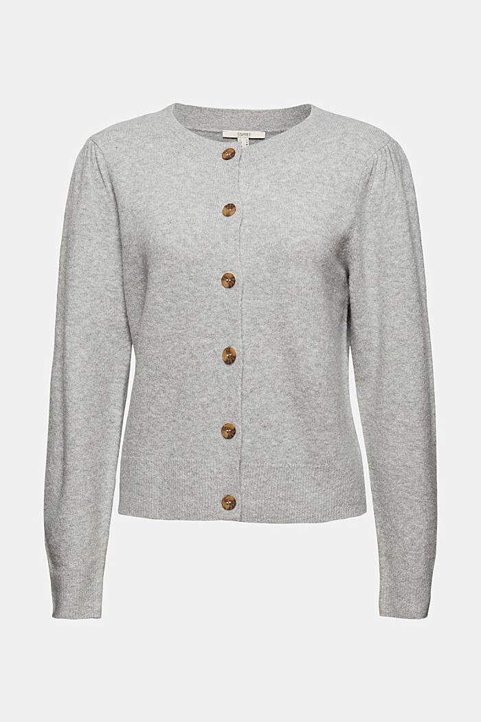 Met wol: vest met gerimpelde mouwen, LIGHT GREY, detail image number 6