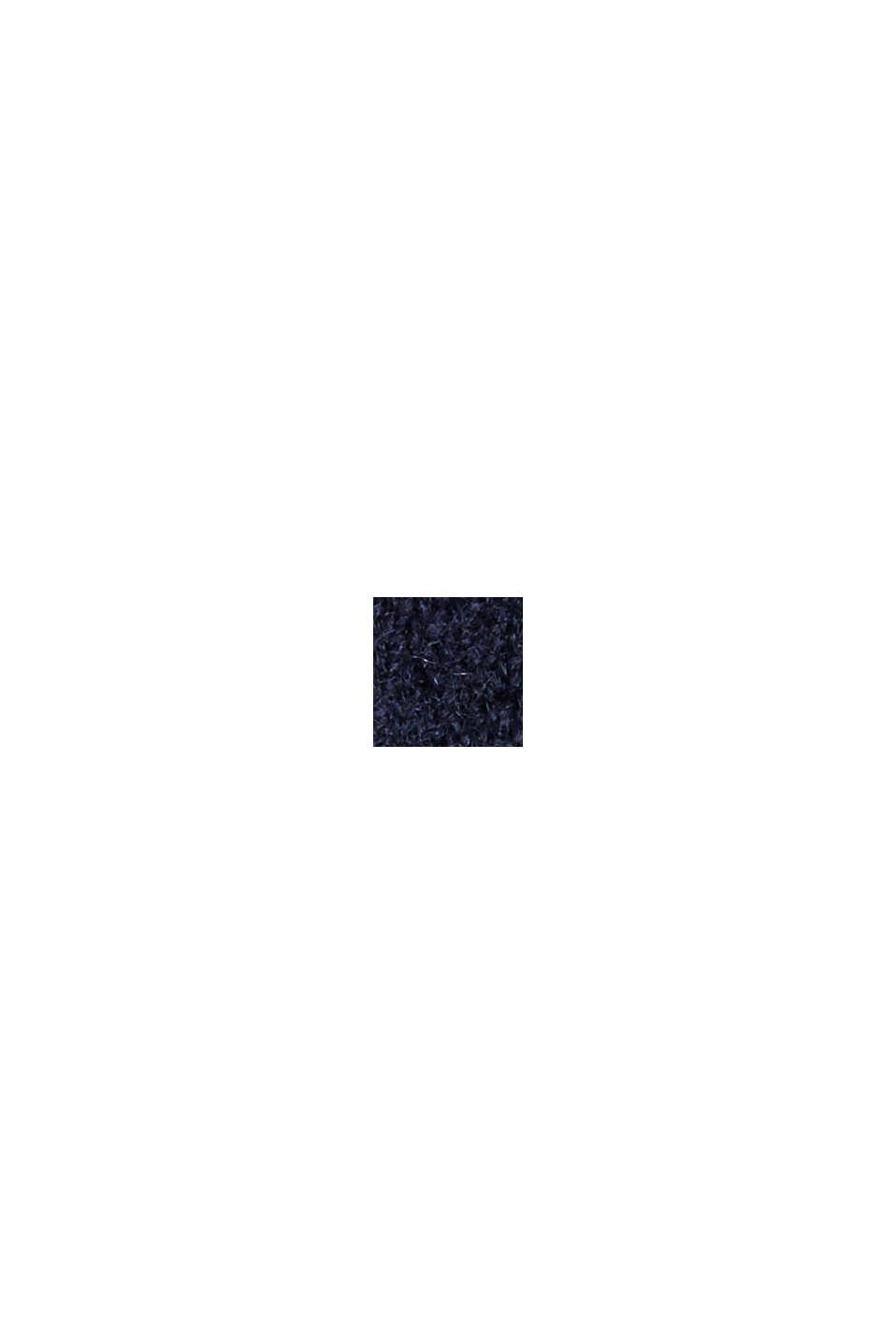 Mit Wolle: Cardigan mit gerafften Ärmeln, NAVY, swatch