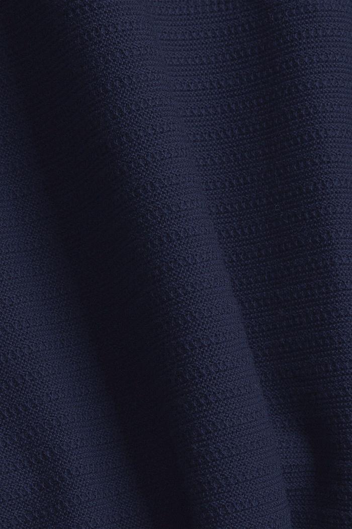 CURVY Recycelt: Rollkragen-Pullover mit Struktur, NAVY, detail image number 4