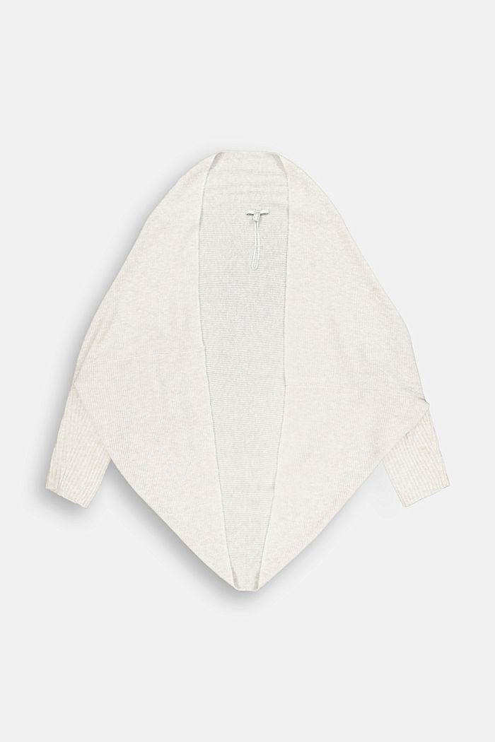 CURVY cape cardigan with wool