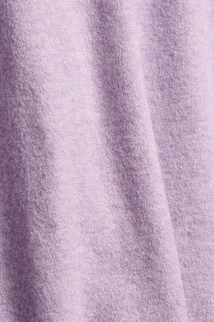 Met wol: zacht vest met V-hals, LILAC, detail image number 4