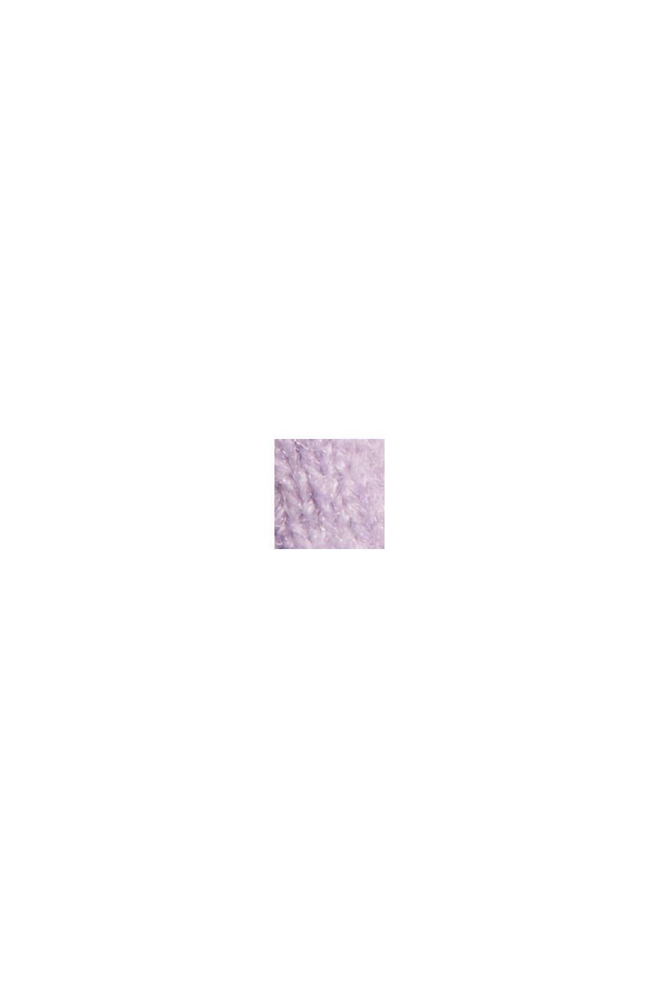 À teneur en laine: le cardigan doux à encolure en V, LILAC, swatch