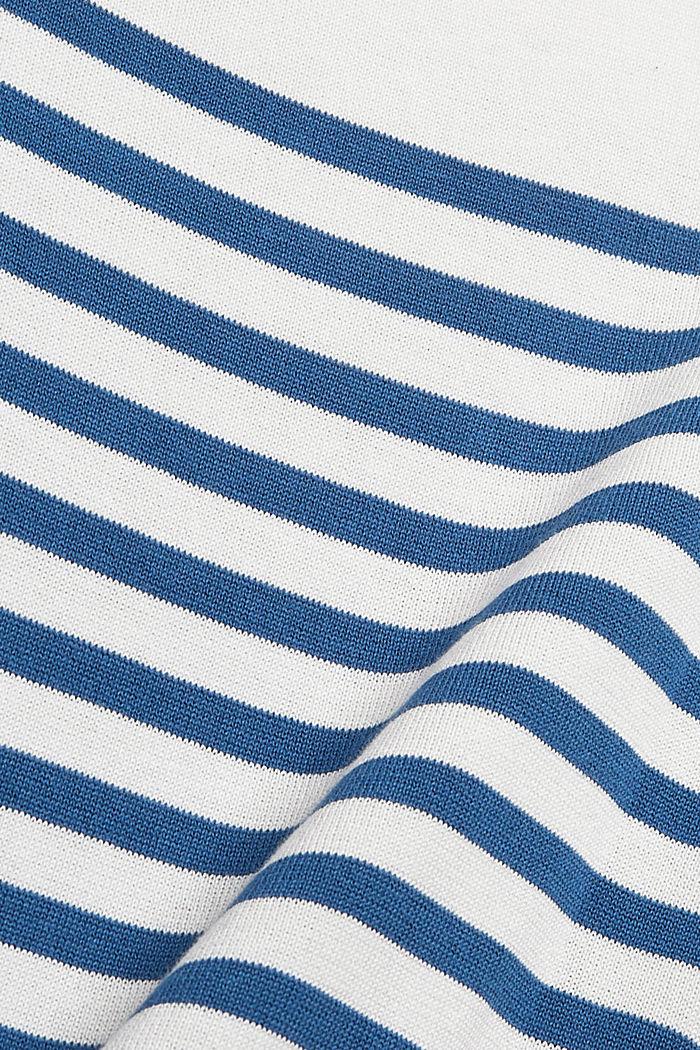 Gestreepte trui van 100% katoen, OFF WHITE, detail image number 4