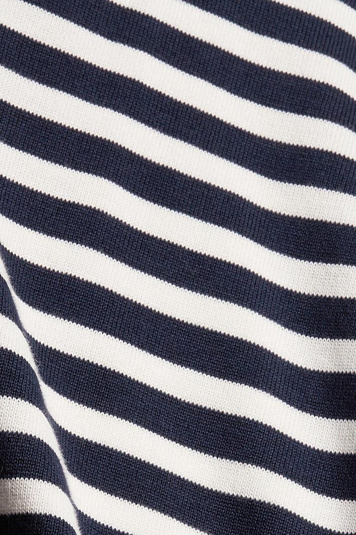 Gestreepte trui van 100% katoen, NAVY, detail image number 4