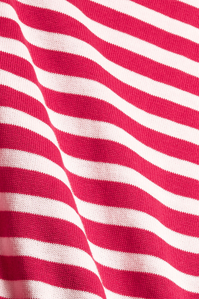 Striped jumper in 100% cotton, PINK FUCHSIA, detail image number 4