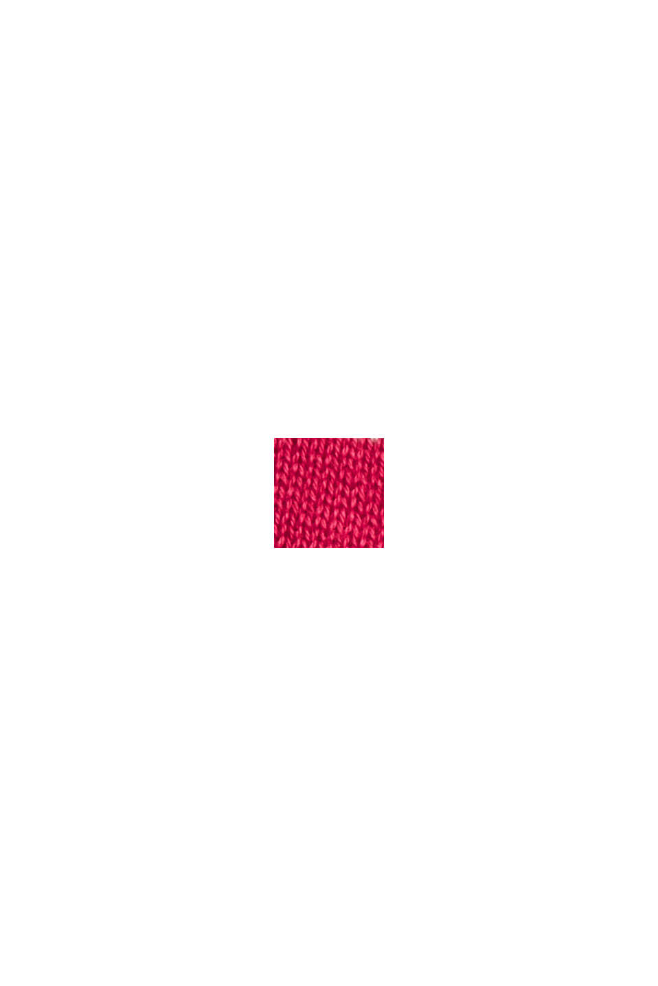Pull-over rayé, 100 % coton, PINK FUCHSIA, swatch