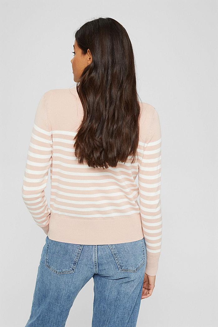 Striped jumper in 100% cotton, PASTEL PINK, detail image number 3